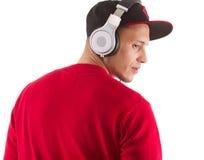 ο ακούοντας κύριος music του DJ Στοκ Φωτογραφίες