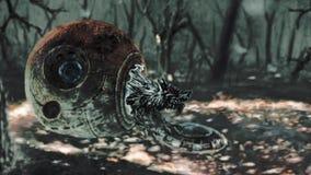 Ο αλλοδαπός λύκος προκύπτει από την κάψα και πηδά ελεύθερη απεικόνιση δικαιώματος