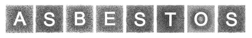 Ο αμίαντος λέξης Στοκ Εικόνες