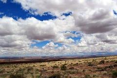 Ο αμερικανικός ουρανός Στοκ Φωτογραφίες