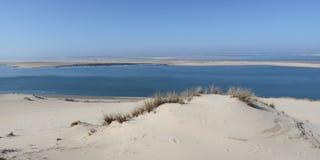 Ο αμμόλοφος του πιό ψηλού αμμόλοφου άμμου Pilat στην Ευρώπη βρίσκεται στ στοκ εικόνα