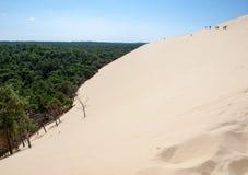 Ο αμμόλοφος Pilat, ο πιό ψηλός αμμόλοφος άμμου στην Ευρώπη Λα teste-de-Buch, κόλπος του Αρκασόν, Aquitaine, στοκ φωτογραφία