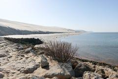 Ο αμμόλοφος Pilat, στο νότο της λεκάνης του Αρκασόν Gironde και στη Aquitaine περι στοκ εικόνα με δικαίωμα ελεύθερης χρήσης