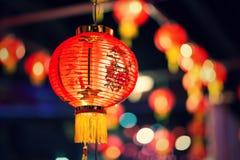 Ο λαμπτήρας του κινεζικού νέου έτους, κινεζικά φανάρια Στοκ εικόνα με δικαίωμα ελεύθερης χρήσης
