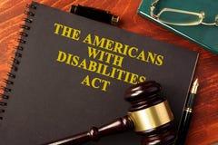 Ο ανάπηρος νόμος ADA Αμερικανών στοκ φωτογραφία