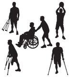 Ο ανάπηρος σκιαγραφεί 11 διανυσματική απεικόνιση