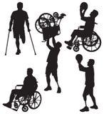 Ο ανάπηρος σκιαγραφεί 12 ελεύθερη απεικόνιση δικαιώματος
