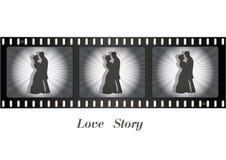 Ο αναδρομικός κινηματογράφος, συνδέει ερωτευμένο απεικόνιση αποθεμάτων