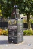 Ο αναμνηστικός κήπος στον πρώην μικρότερο αδερφό του Robert Dunlop του Joey Dunlop σε Ballymoney, κομητεία Antrim, Βόρεια Ιρλανδί Στοκ Εικόνες