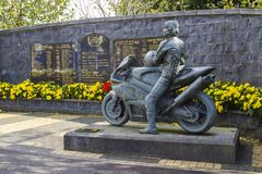 Ο αναμνηστικός κήπος στον πρώην παλαιότερο αδελφό του Joey Dunlop του Robert Dunlop σε Ballymoney, κομητεία Antrim, Βόρεια Ιρλανδ Στοκ φωτογραφίες με δικαίωμα ελεύθερης χρήσης