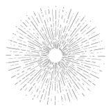 Ο αναδρομικός ήλιος εκρήγνυται, εκλεκτής ποιότητας ακτινοβόλος μορφή ακτίνων ήλιων για το λογότυπο, ετικέτες ή εμβλήματα και πρότ διανυσματική απεικόνιση