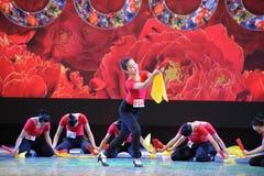 Ο ανεμιστήρας η χορός-εθνική κατάρτιση χορού Στοκ Εικόνες