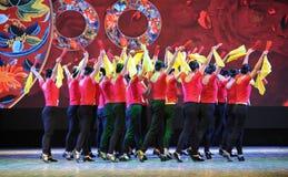 Ο ανεμιστήρας η χορός-εθνική κατάρτιση χορού Στοκ φωτογραφία με δικαίωμα ελεύθερης χρήσης