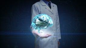 Ο ανοικτός φοίνικας γιατρών, εγκέφαλος συνδέει τις ψηφιακές γραμμές, που επεκτείνουν την τεχνητή νοημοσύνη ελεύθερη απεικόνιση δικαιώματος