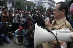 ο αντιδήμαρχος σόλο, Purnomo Achmad μεταβιβάζει το oration στοκ φωτογραφία