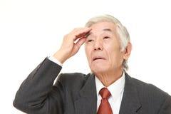 Ο ανώτερος ιαπωνικός επιχειρηματίας έχει χάσει τη μνήμη του Στοκ εικόνα με δικαίωμα ελεύθερης χρήσης