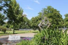 Ο ανώτερος κήπος του Castle στη Στουτγάρδη, Γερμανία Στοκ Εικόνα