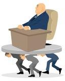 Ο ανώτερος υπάλληλος ληστεύει τους εργαζομένους Απεικόνιση αποθεμάτων