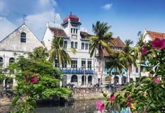 Ολλανδικά αποικιακά κτήρια στην παλαιά πόλη της Τζακάρτα Ινδονησία Στοκ εικόνα με δικαίωμα ελεύθερης χρήσης