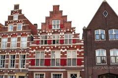 Ολλανδικά σπίτια καναλιών Στοκ Φωτογραφία