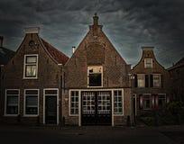 Ολλανδικά σπίτια Schipluiden οι Κάτω Χώρες Στοκ Φωτογραφίες