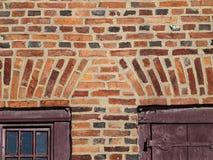 Ολλανδική εργασία τούβλου για το παλαιό ολλανδικό σπίτι κοιλάδων του Hudson Στοκ Εικόνες