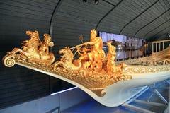 Ολλανδική μεσαιωνική βασιλική βάρκα στο εθνικό θαλάσσιο μουσείο Στοκ Φωτογραφία