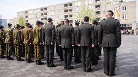 Ολλανδική στρατιωτική παρέλαση απόθεμα βίντεο