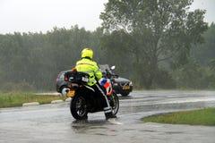Ολλανδικός αστυνομικός μοτοσικλετών Στοκ φωτογραφία με δικαίωμα ελεύθερης χρήσης
