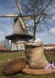 Ολλανδικός μύλος αλευριού Στοκ εικόνα με δικαίωμα ελεύθερης χρήσης