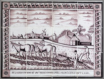 Ολλανδικό κεραμίδι από το 16ο στο δέκατο όγδοο αιώνα Στοκ Φωτογραφίες