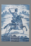 Ολλανδικό κεραμίδι από το 16ο στο δέκατο όγδοο αιώνα Στοκ Εικόνα