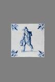 Ολλανδικό κεραμίδι από το 16ο στο δέκατο όγδοο αιώνα Στοκ εικόνα με δικαίωμα ελεύθερης χρήσης