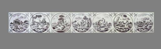 Ολλανδικό κεραμίδι από το 16ο στο δέκατο όγδοο αιώνα Στοκ φωτογραφίες με δικαίωμα ελεύθερης χρήσης