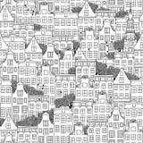 Ολλανδικό σχέδιο σπιτιών Στοκ εικόνες με δικαίωμα ελεύθερης χρήσης