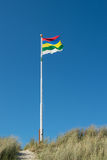 Ολλανδικό wadden σημαιών νησί Terschelling Στοκ φωτογραφία με δικαίωμα ελεύθερης χρήσης