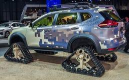 Ο απατεώνας της Nissan που παρουσιάζεται διεθνή στον αυτόματο της Νέας Υόρκης παρουσιάζει 2017 Στοκ Φωτογραφίες