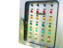Ο απορροφώντας έλεγχος πινάκων διανομής συσκευών εμπλουτισμού σε διοξείδιο του άνθρακα ηλεκτρικός, εικόνα παρουσιάζει κουμπί εντο στοκ εικόνες