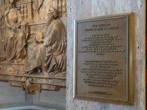 Ο απόστολος εξυπηρετεί Χριστό σε άλλοι ιστορία και τοιχογραφία πινακίδων στον καθεδρικό ναό Αγίου Mary της υπόθεσης στοκ εικόνες