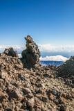 Ο απότομος βράχος δημιούργησε μετά από την έκρηξη ηφαιστείων Στοκ φωτογραφία με δικαίωμα ελεύθερης χρήσης
