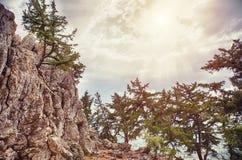 Ο απότομος βράχος πετρών Στοκ φωτογραφίες με δικαίωμα ελεύθερης χρήσης
