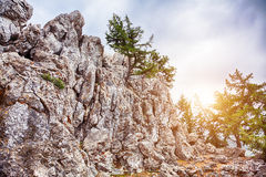Ο απότομος βράχος πετρών Στοκ εικόνα με δικαίωμα ελεύθερης χρήσης
