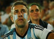 Ο αργεντινός πρωτοπόρος Juan Martin Del Potro του Grand Slam υποστήριξης ανεμιστήρων της Αργεντινής κατά τη διάρκεια των ατόμων ` Στοκ φωτογραφία με δικαίωμα ελεύθερης χρήσης