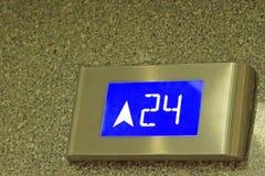 Ο αριθμός λέει το 24ο πάτωμα του ανελκυστήρα Στοκ φωτογραφία με δικαίωμα ελεύθερης χρήσης