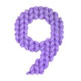 Ο αριθμός 9 αλφάβητο εννέα, χρωματίζει την πορφύρα Στοκ Φωτογραφίες