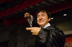 Ο αριθμός κεριών της Jackie Chan στην κυρία Tussauds Singapore Η Jackie Chan είναι δράστης, καλλιτέχνης, τραγουδιστής και σκηνοθέ Στοκ φωτογραφία με δικαίωμα ελεύθερης χρήσης