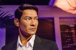Ο αριθμός κεριών του Andy Lau στην κυρία Tussauds Singapore Ο Andy Lau είναι δράστης, τραγουδιστής και κινηματογραφικός παραγωγός Στοκ Εικόνες
