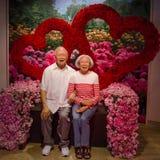 Ο αριθμός κεριών του Lee Kuan Yew και Kwa Geok Choo στην κυρία Tussauds Singapore Ο Lee Kuan Yew ήταν ο πρώτος πρωθυπουργός Singa Στοκ Εικόνες