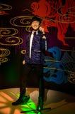Ο αριθμός κεριών JJ Lin στην κυρία Tussauds Singapore Στοκ φωτογραφία με δικαίωμα ελεύθερης χρήσης