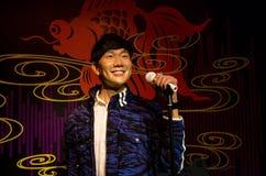 Ο αριθμός κεριών JJ Lin στην κυρία Tussauds Singapore Στοκ Εικόνες